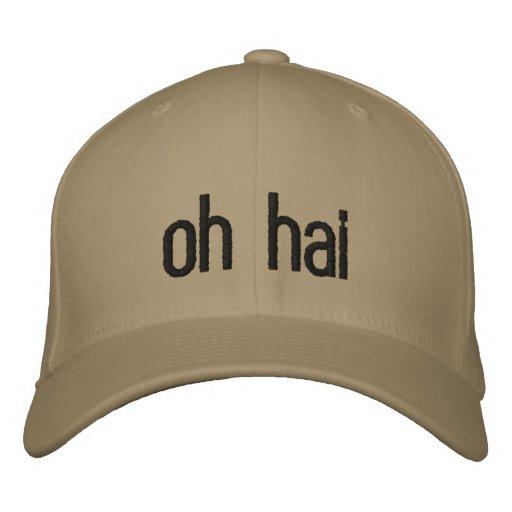oh hai gestickter Hut Bestickte Mütze