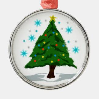 Oh Weihnachtsbaum Silbernes Ornament