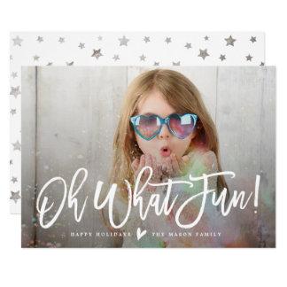 Oh welcher Spaß! Feiertags-Foto-Karte 12,7 X 17,8 Cm Einladungskarte