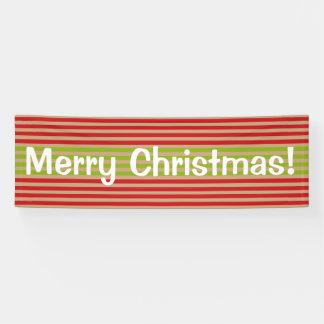 Oh welcher Spaß! Weihnachten stripes Banner
