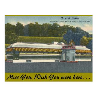 Ohio, D&B Restaurant, Akron-Ephrata Postkarte
