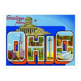 Ohio-Grüße von US-Staaten Postkarte