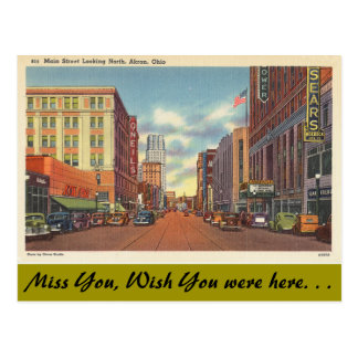 Ohio, Hauptstraße, Akron Postkarte