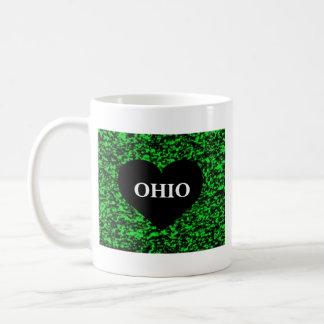 Ohio-Herz-Grün Kaffeetasse