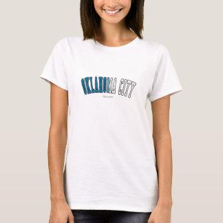 Oklahoma City in den Oklahoma-Staatsflaggenfarben T-Shirt