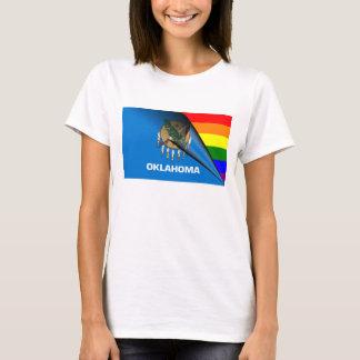 Oklahoma-Flaggen-Gay Pride-Regenbogen T-Shirt