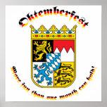 Oktemberfest mit den bayerischen Armen Poster
