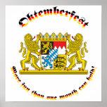 Oktemberfest mit den bayerischen größeren Armen Poster