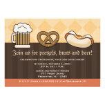Oktoberfest Einladungs-Bier-Tassen-Brezel-Hotdog