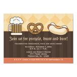 Oktoberfest Einladungs-Bier-Tassen-Brezel-Hotdog 12,7 X 17,8 Cm Einladungskarte