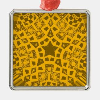 Oldie Quadratisches Silberfarbenes Ornament