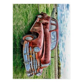 Oldsters-klassisches Auto-Vintages Automobil-altes Postkarte