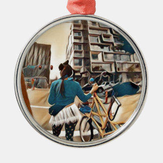 Olive und Dingo in PDX Silbernes Ornament