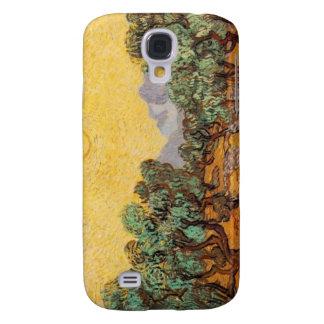Olivenbäume mit gelbem Himmel und Kasten Sun Galaxy S4 Hülle
