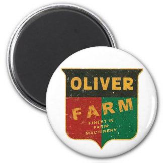 Oliver-Landwirtschaft Runder Magnet 5,7 Cm