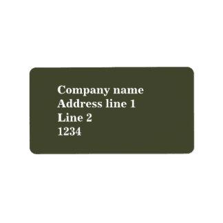 Olivgrün Adressetikett