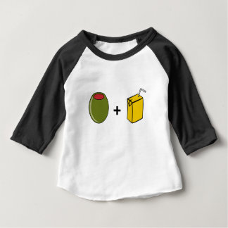 Olivgrüne Liebe des Saft-I Sie Baby T-shirt