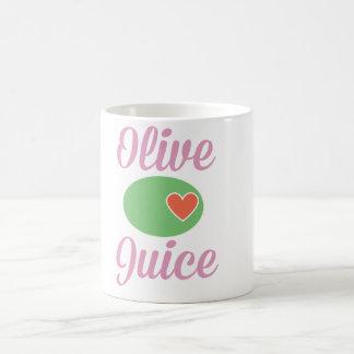 Olivgrüne Saft-Rosa-Tasse Tasse