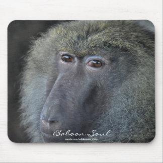 Olivgrünes Pavian-(weibliches) Tier-Porträt Mousepad