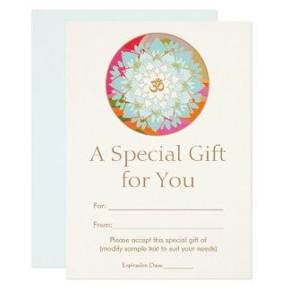 OM-Lotos-Blumen-geistiges 11,4 X 15,9 Cm Einladungskarte