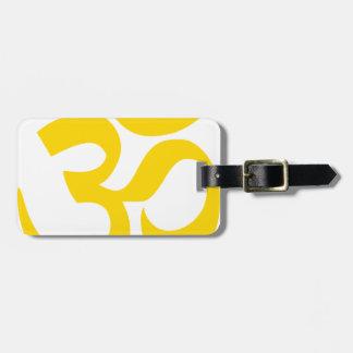 Om-Symbol (gelbes Gold in der Farbe) Gepäckanhänger