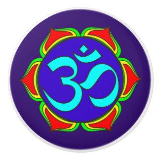 OM-Symbol heilige Buddhismusreligion Keramikknauf