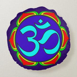 OM-Symbol heilige Buddhismusreligion Rundes Kissen