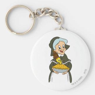 Oma und TWEETY™ Torte Standard Runder Schlüsselanhänger