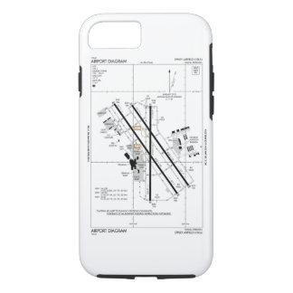 Omaha-Flughafen-Diagramm iPhone 7 Hülle