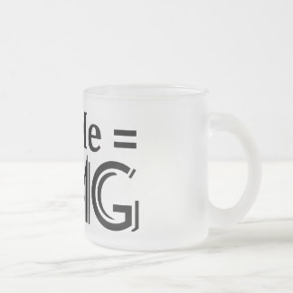 OMG Gleichung. Sie + Ich = O.M.G. Mattglastasse
