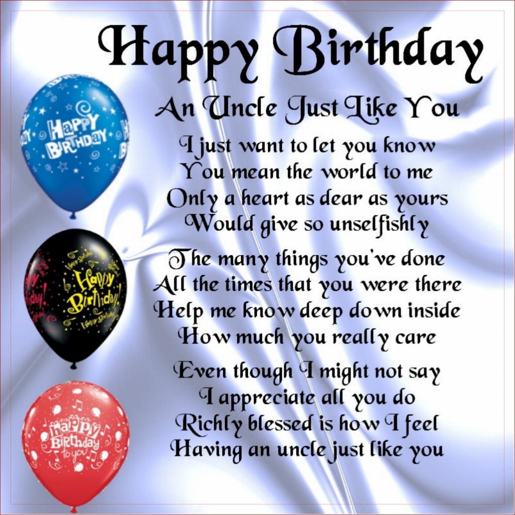 Alles Gute Zum Geburtstag Onkel Geburtstagsw252nsche