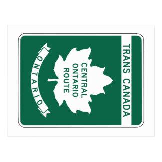 Ontario, Transport-Kanada Landstraßen-Zeichen Postkarte