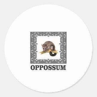 opa Opossum Runder Aufkleber