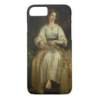 Ophelia, die ihre Girlanden, 1842 (Öl, spinnt auf iPhone 8/7 Hülle