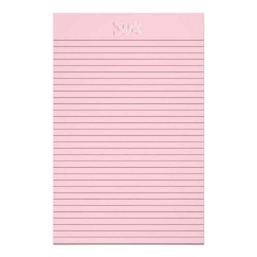 optionale linien des rosa bedrucktes papier zazzle. Black Bedroom Furniture Sets. Home Design Ideas