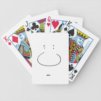 Optische Illusions-Cartoon-Gesicht Poker Karten