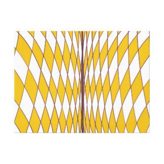 Optische Illusions-gebogene Diamant-gelbe Leinwand Leinwanddrucke