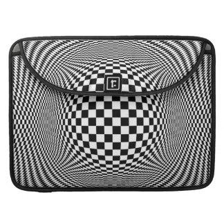 Optische Prohülse des Illusions-Schachbrett-15in Sleeves Für MacBook Pro