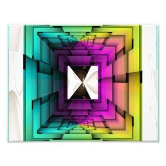 Optische Regenbogen-Farben Fotodruck
