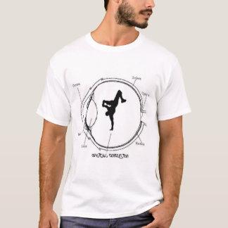 optischer Verwirrungsweiß-Sieger T-Shirt