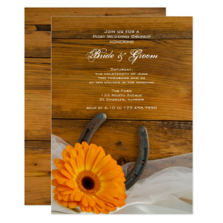 Orange 12,7 X 17,8 Cm Einladungskarte