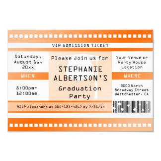 Orange Abschluss-oder Party-Aufnahme-Karte 8,9 X 12,7 Cm Einladungskarte