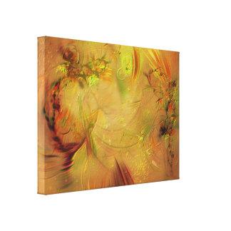 Orange abstrakte Malerei Gespannter Galeriedruck