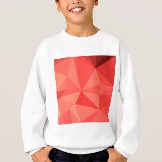 Orange abstrakter niedriger Polygon-Hintergrund Sweatshirt