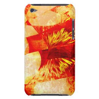 Orange abstraktes iPod touch case