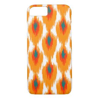 Orange aquamarines abstraktes Stammes- Ikat iPhone 8/7 Hülle