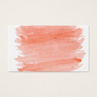 Orange Aquarell-Visitenkarte Visitenkarte