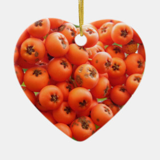 Orange Beeren Keramik Ornament