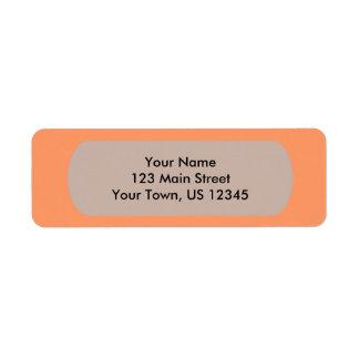 Orange besonders anzufertigen Schablone der Rücksendeetiketten