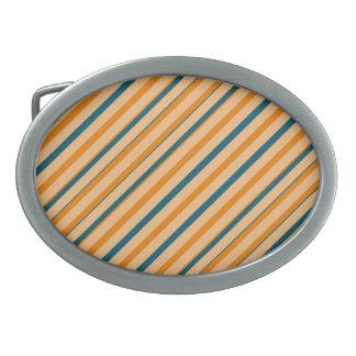 Orange blauer Streifen-Oval-Schnalle Ovale Gürtelschnallen